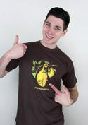 náhled - Citrón tmavě hnědé pánské tričko
