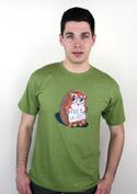 náhled - Objetí zdarma zelené pánské tričko