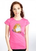 náhled - Objetí zdarma fuchsiové dámské tričko