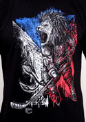 náhled - Hokejový lev černé pánské tričko