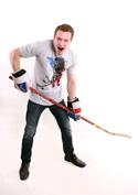 náhled - Hokejový lev šedé pánské tričko