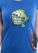náhled - Hladová rybka dámské tričko - 2. jakost