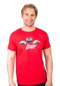 náhled - Pomalu ale zběsile červené pánské tričko