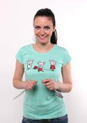 náhled - Koloběh vlny dámské tričko