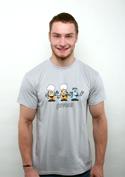 náhled - Pivoni šedé pánské tričko