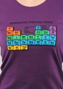 náhled - Periodická tabulka fialové dámské tričko
