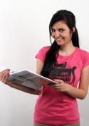náhled - Povinná četba fuchsiové dámské tričko