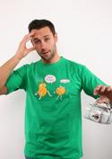 náhled - Opilé brambory zelené pánské tričko