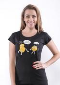 náhled - Opilé brambory černé dámské tričko