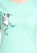 náhled - Myšák zelené dámské tričko