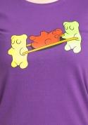 náhled - Gumídci fialové dámské tričko
