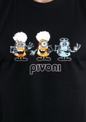 náhled - Pivoni černé pánské tričko