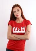 náhled - Czech Teamwork červené dámské tričko