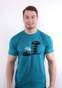 náhled - Vytočenej modré pánské tričko