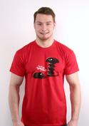 náhled - Vytočenej červené pánské tričko