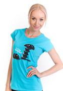 náhled - Vytočenej modré dámské tričko