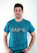 náhled - Nevinen modré pánské tričko