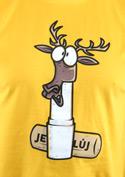 náhled - Jelení lůj žluté pánské tričko