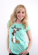 náhled - Jelení lůj zelené dámské tričko