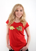 náhled - Želva s ježkem dámské tričko