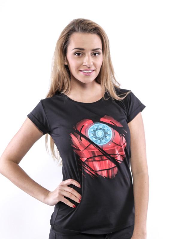 Ironman černé dámské tričko  0ed31f9598