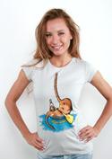 náhled - Žaludek na vodě dámské tričko