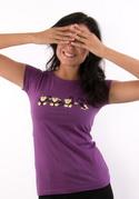 náhled - Opice fialové dámské tričko