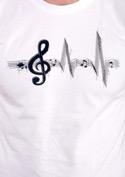 náhled - Žiju muzikou bílé pánské tričko