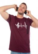 náhled - Žiju muzikou vínové pánské tričko