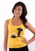 náhled - Vytočenej žluté dámské tílko