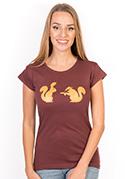 náhled - Veverky červené dámské tričko