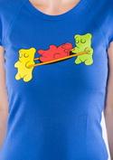 náhled - Gumídci modré dámské tričko