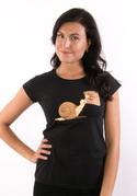 náhled - Šmírování černé dámské tričko