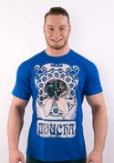 náhled - Moucha královsky modré pánské tričko