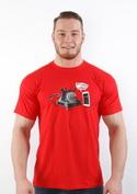 náhled - Telefon v důchodu červené pánské tričko