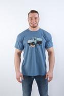 náhled - Tatrická masáž modré pánské tričko - nový střih