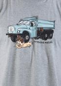 náhled - Tatrická masáž šedé pánské tričko - nový střih