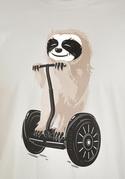 náhled - Lenochod šedé pánské tričko