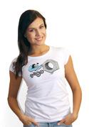 náhled - Správná matka bílé dámské tričko