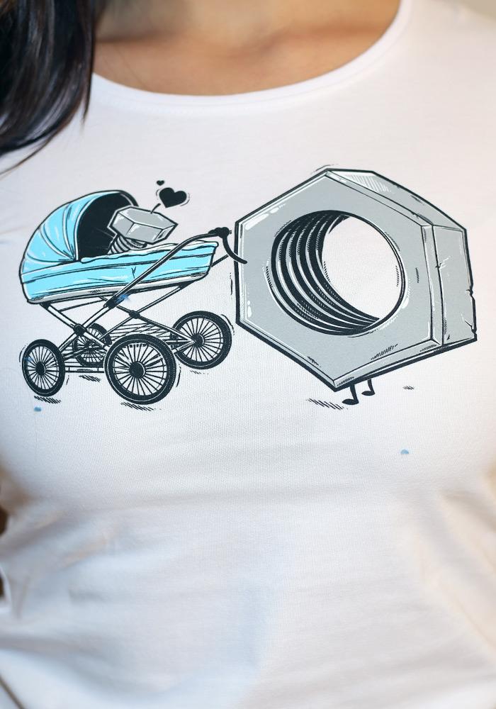 f2b967be9ba2 ... náhled - Správná matka bílé dámské tričko