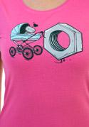 náhled - Správná matka fuchsiové dámské tričko