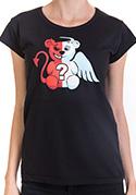 náhled - Anděl vs. ďábel černé dámské tričko