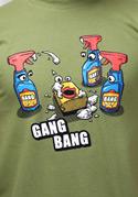 náhled - Gang Bang zelené pánské tričko