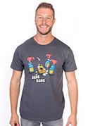 náhled - Gang Bang šedé pánské tričko