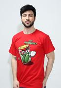 náhled - Nakládačka červené pánské tričko
