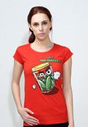 náhled - Nakládačka červené dámské tričko klasik