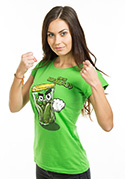 náhled - Nakládačka zelené dámské tričko