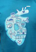 náhled - Srdce bije pro pánské tričko