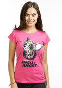 náhled - Čivava fuchsiové dámské tričko