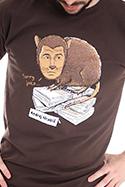 náhled - Hrabiš hnědé pánské tričko
